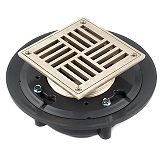 TBD363P Square Decorative Strainer Floor and Shower Drain.